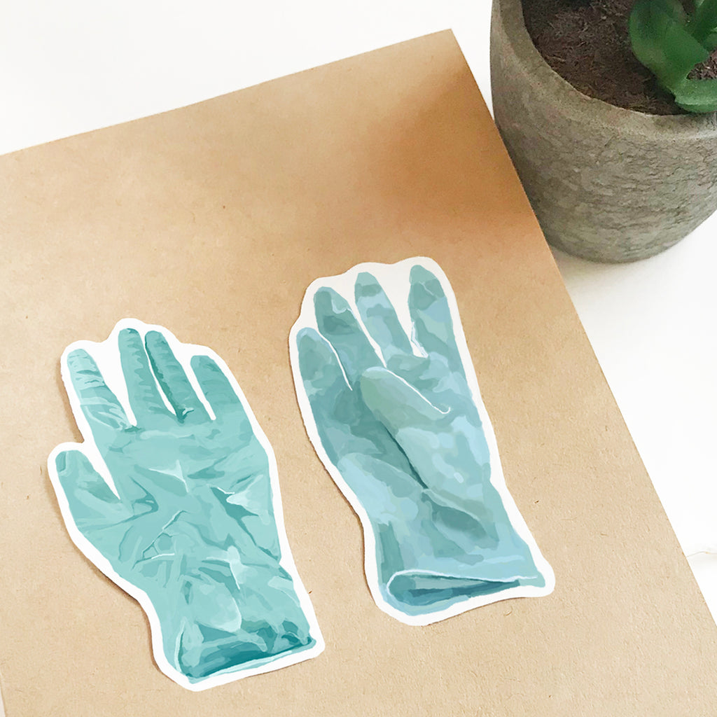 Lab Gloves Vinyl Sticker