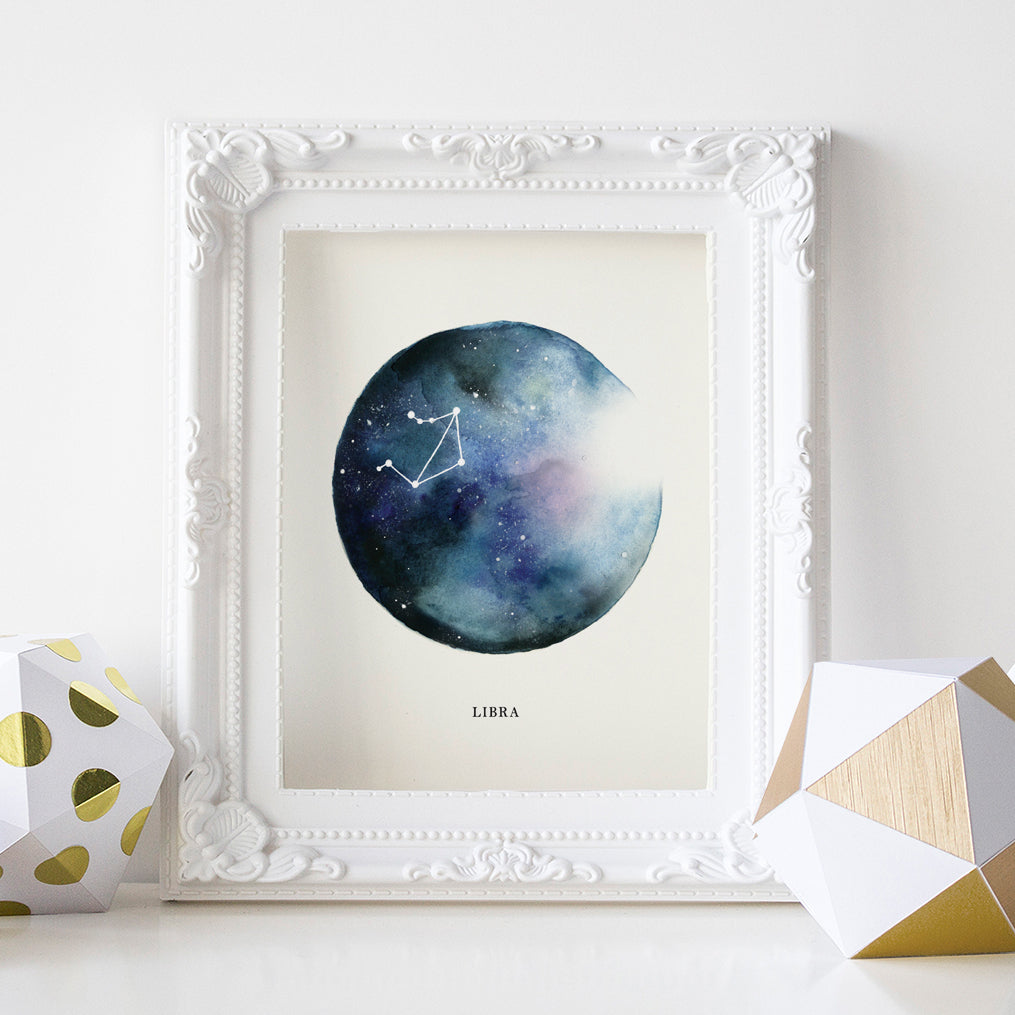 Libra Astrological Sign Constellation Print