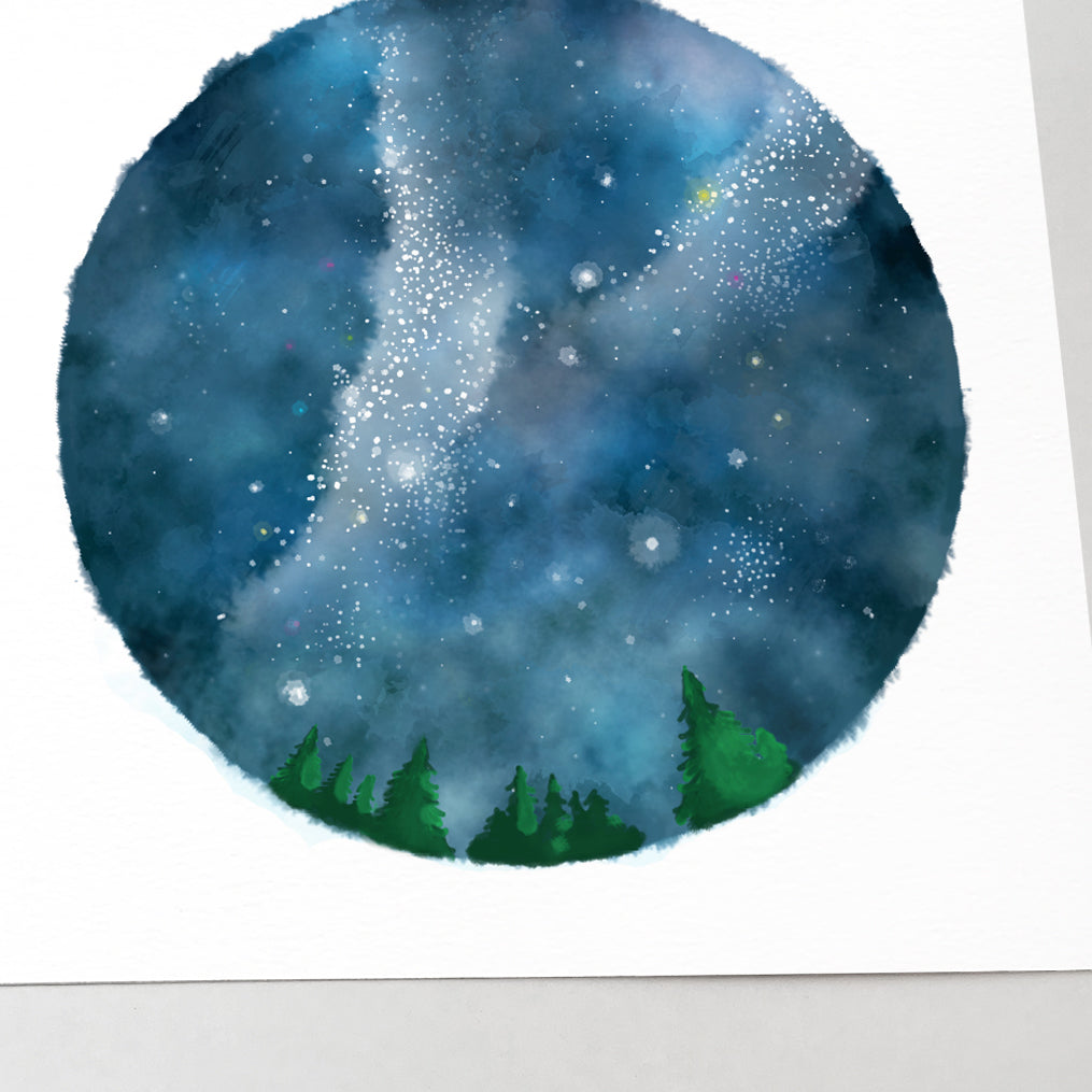 Night Sky and Milky Way Art Print