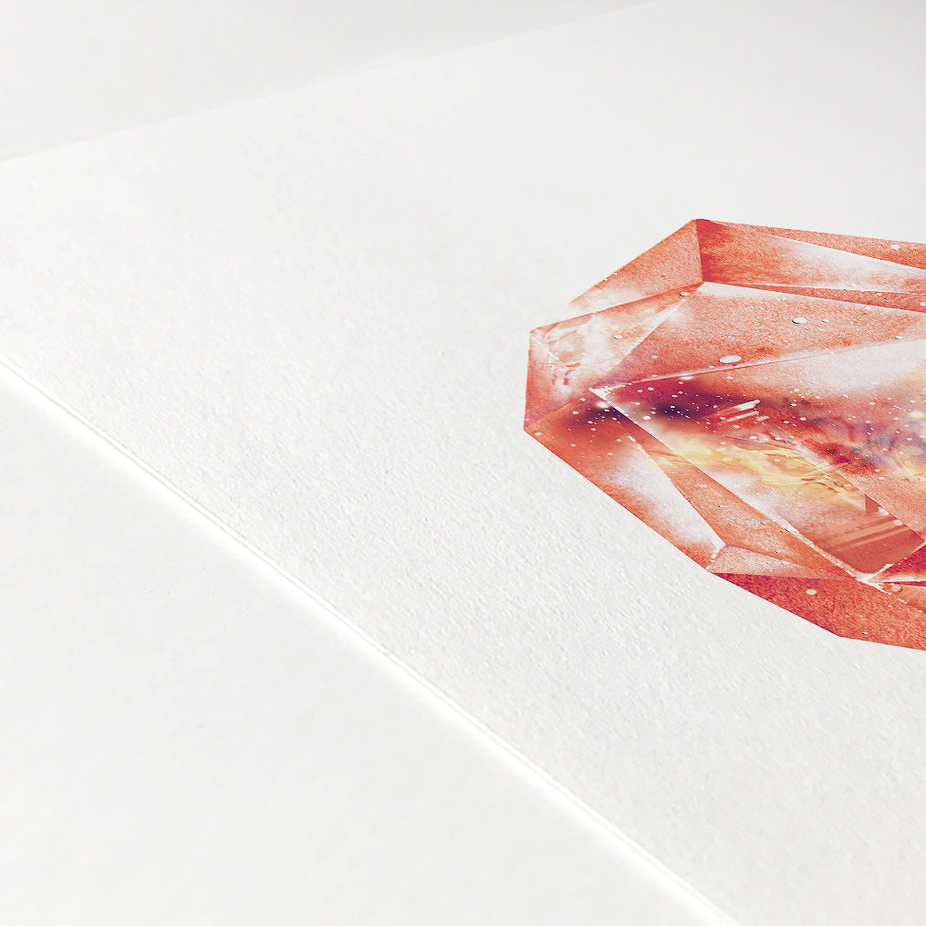 Orange Garnet Quartz Crystal Art Print