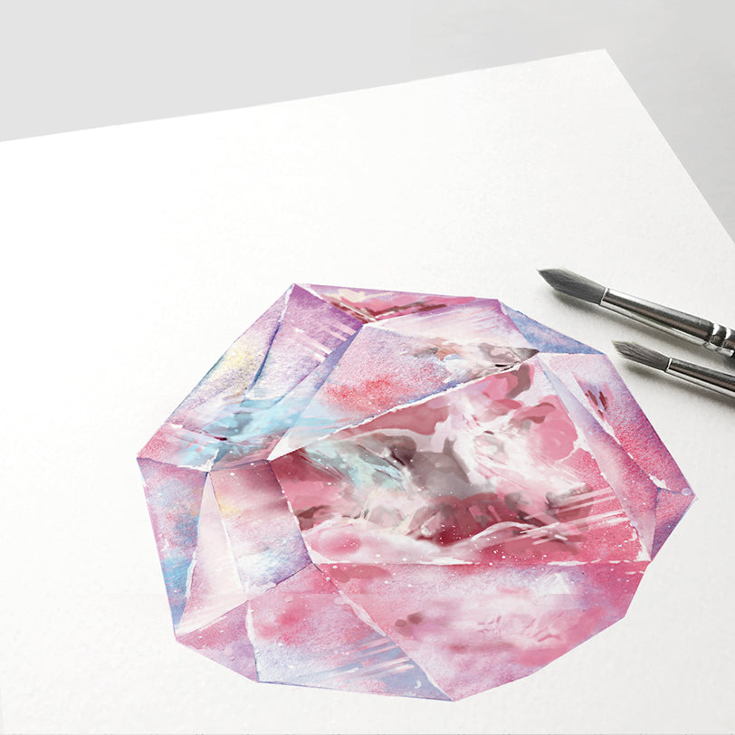 Red Spinel Quartz Crystal Art Print