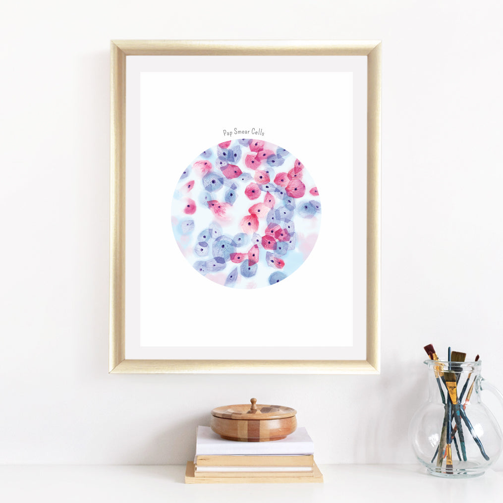 Papanicolaou Smear Cells, Pap Art Print