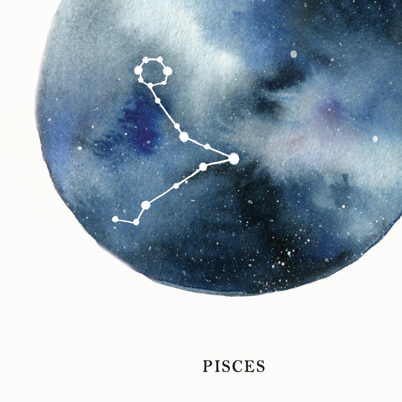 Pisces Astrological Sign Constellation Print