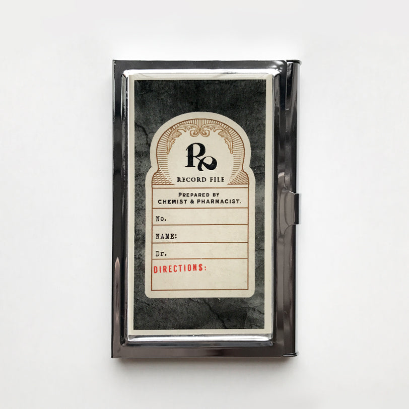 Vintage style Prescription Note Business Card Case