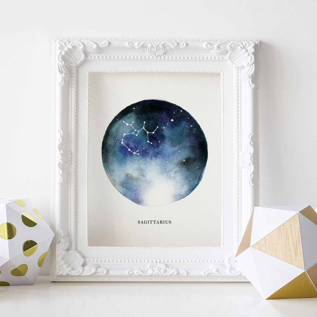 Sagittarius Astrological Sign Constellation Print