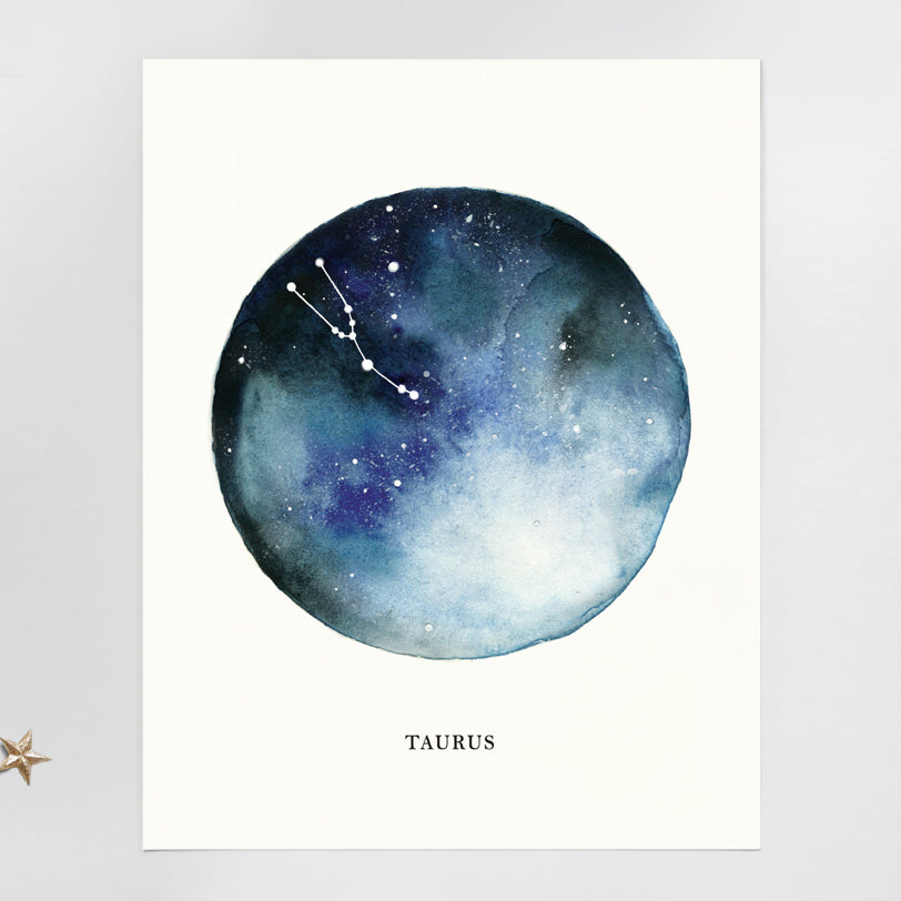 Taurus Astrological Sign Constellation Print