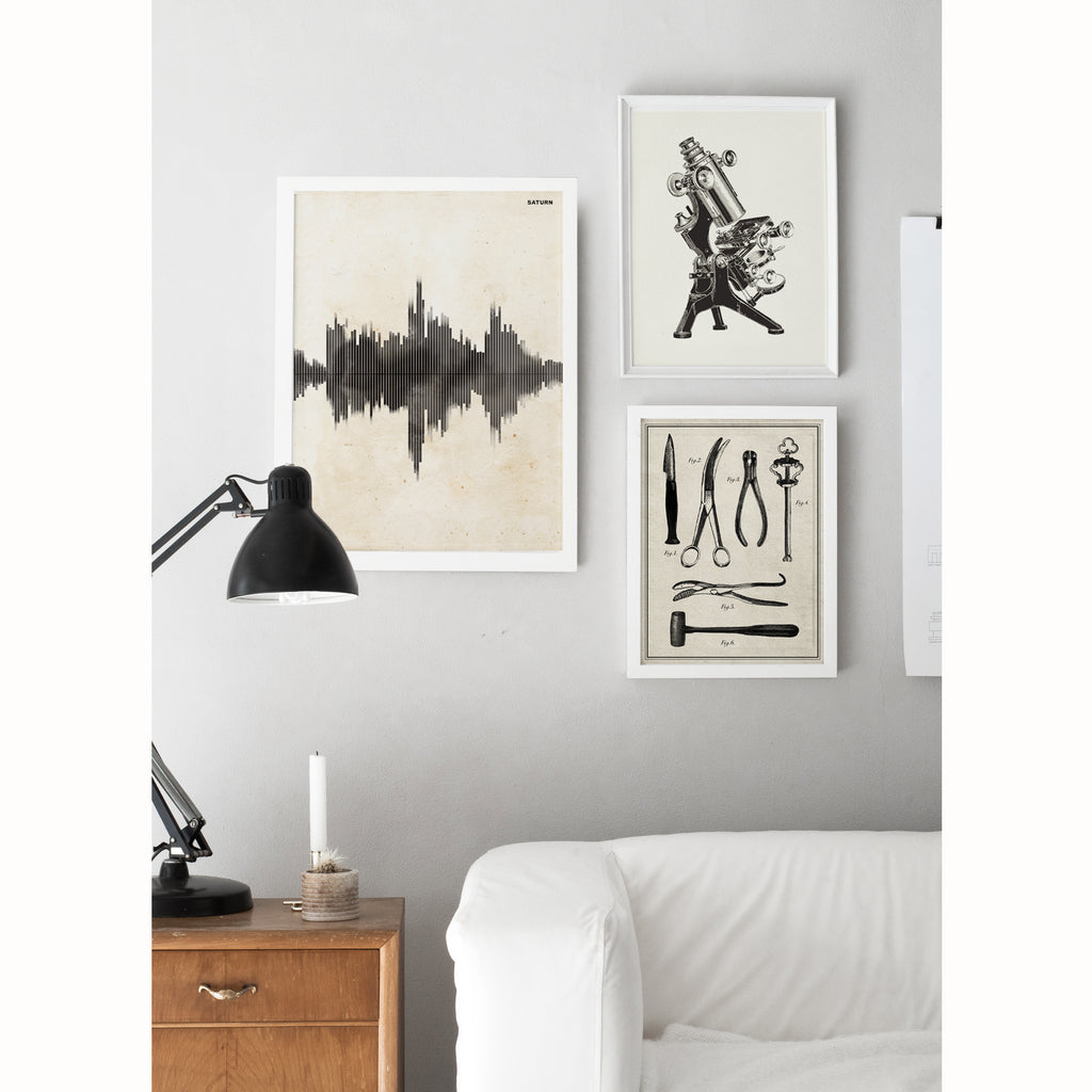 Saturn Sound Wave Art Print