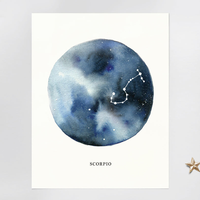 Scorpio Astrological Sign Constellation Print