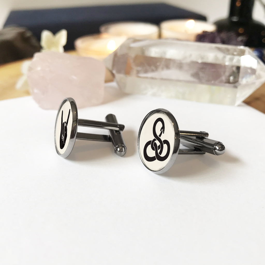 Alchemy Hand and Ouroboros Cufflinks