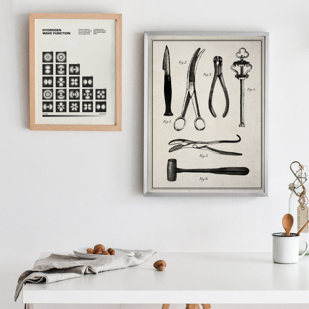 Surgical Instrument Collection Art Print
