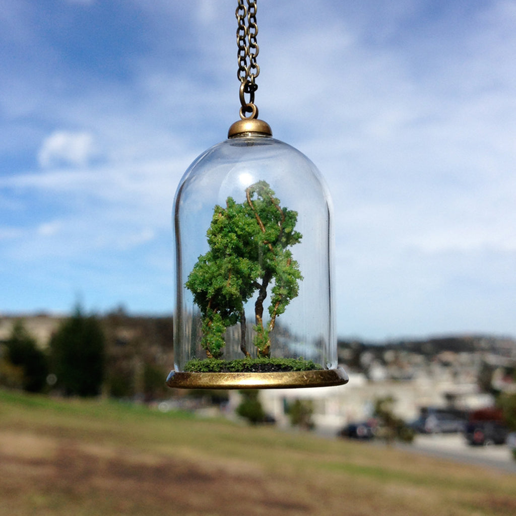 Forest Terrarium Glass Dome Pendant