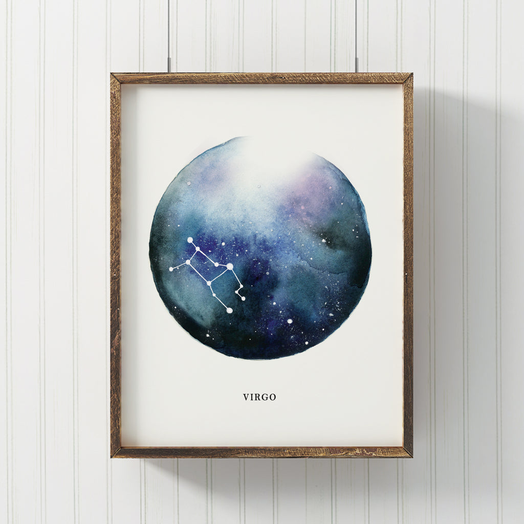 Virgo Astrological Sign Constellation Print