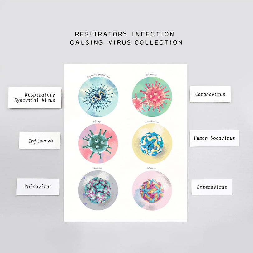 Respiratory Infection Causing Virus Collection Print