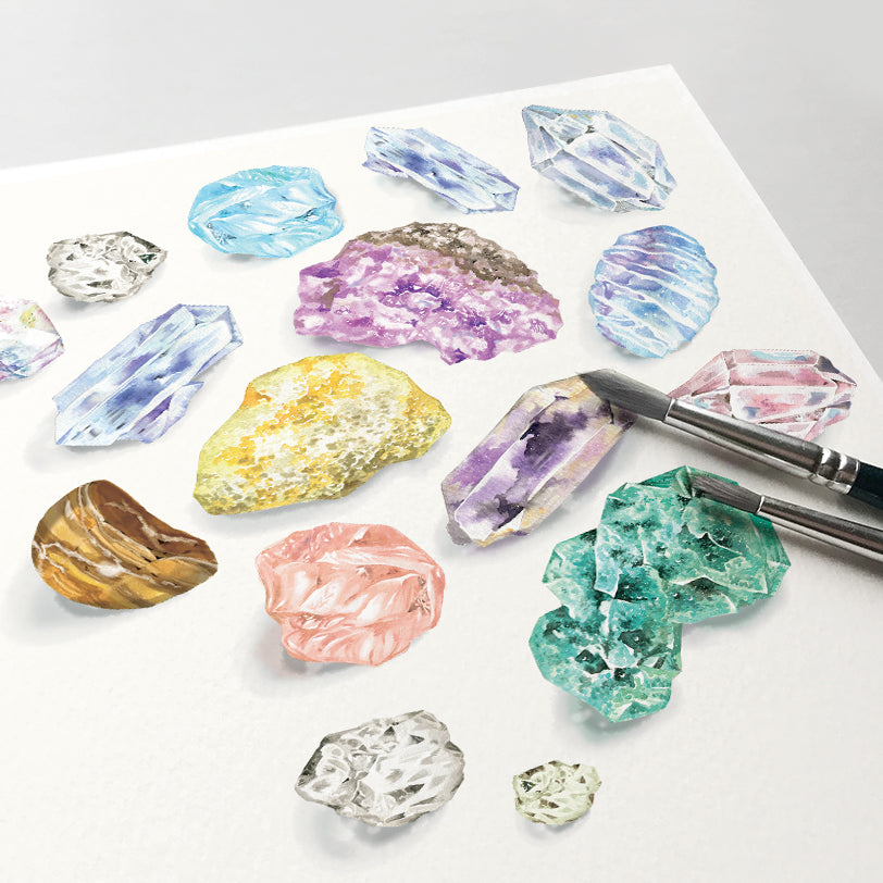 Mineral Stone Collection Art Print