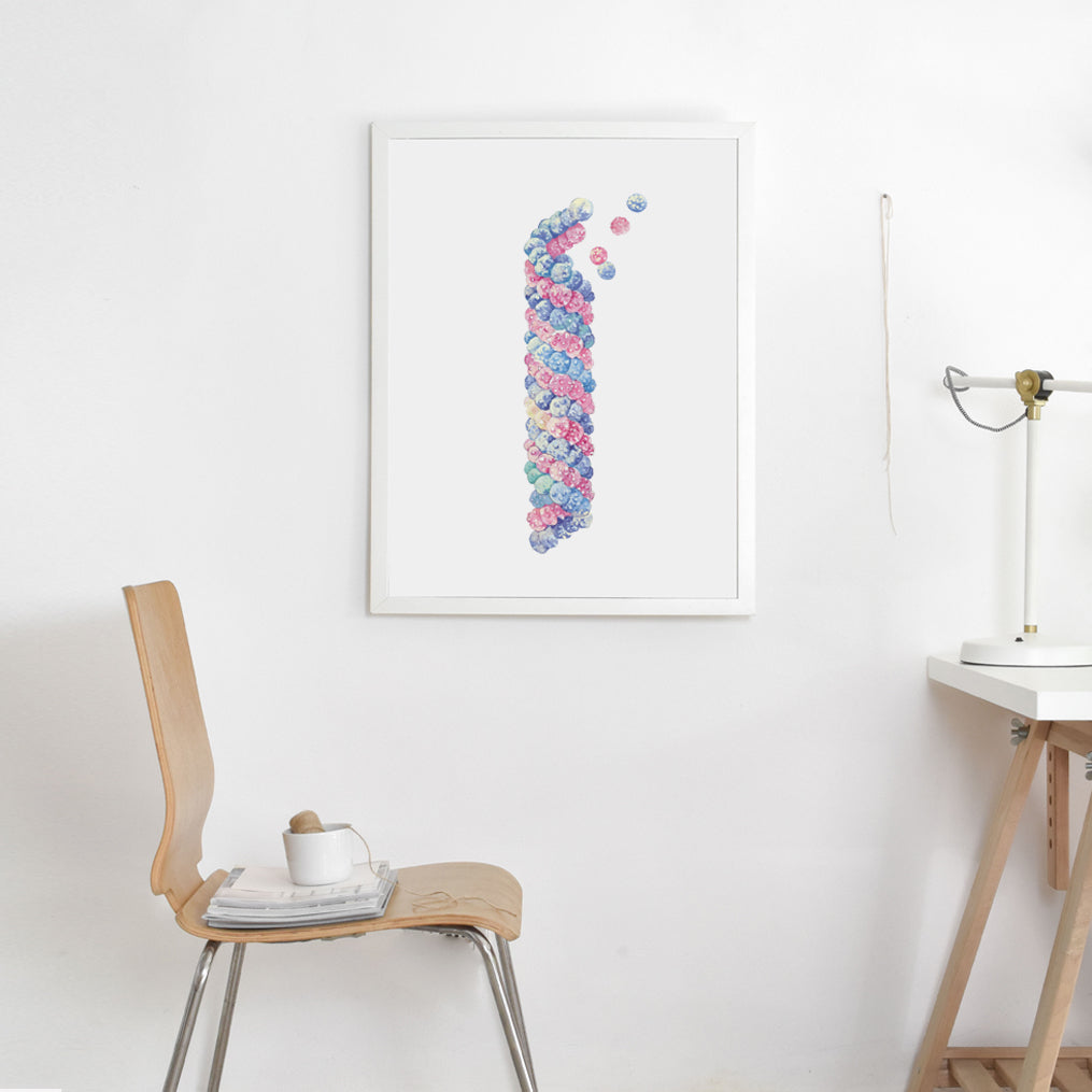 Microtubule Watercolor Art Print