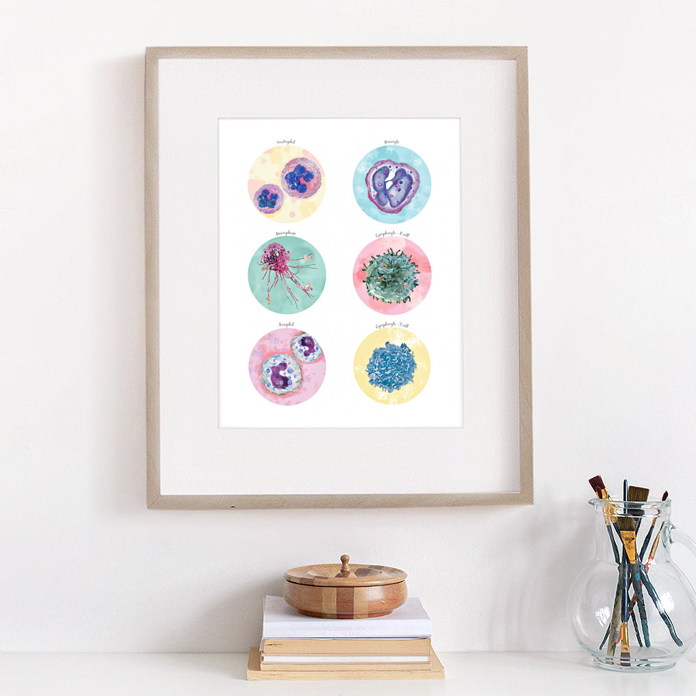 Defensive Cells Immune System Collection Print