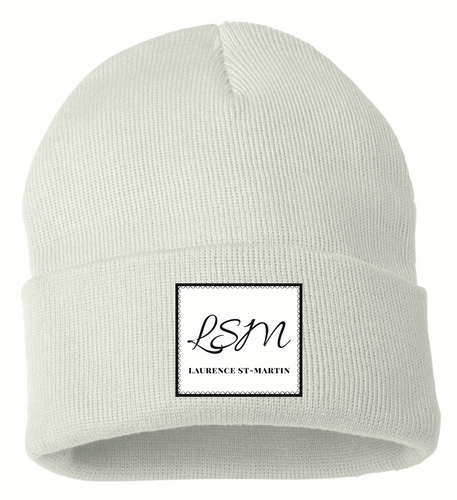 Tuque « LSM » blanche - Laurence St-Martin