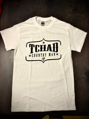 T-Shirt « Tchad Country Man » - Tchad (blanc)