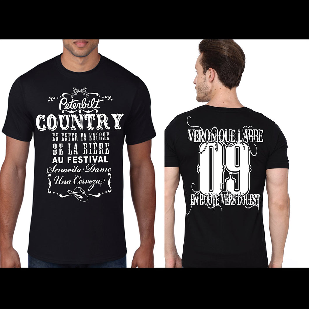 T-Shirt « Country » Noir - Véronique Labbé