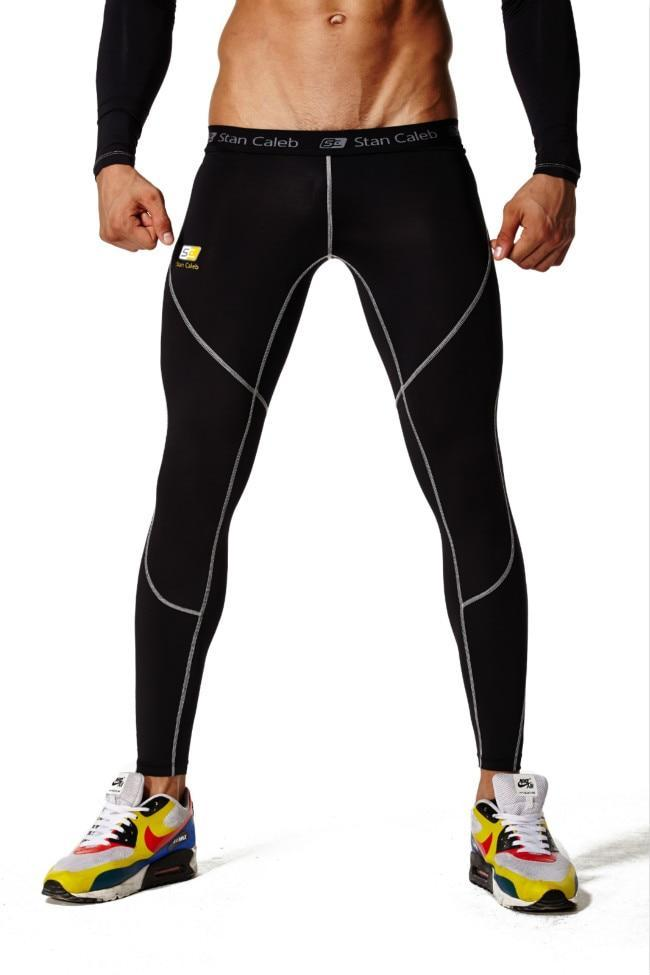 LEGGING Collants de compression gym fitness sport hommes pantalons de course à pied joggeurs