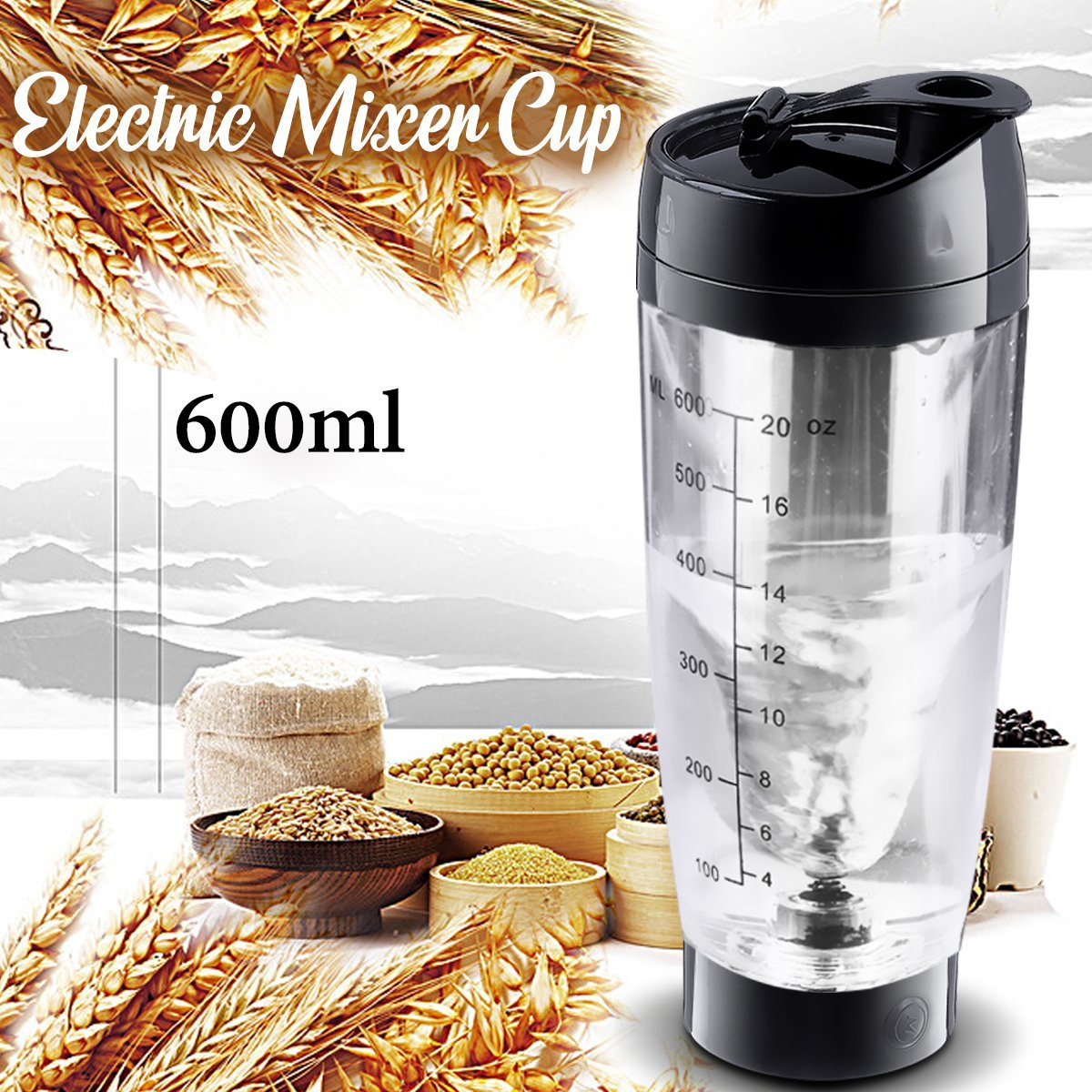 Shaker Portable Electric USB Rechargeable Automatic Proteine Coffee  600ml