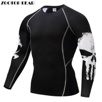 TSHIRT Punisher Compression Shirt Hommes Respirant Séchage Rapide  Top Crossfit