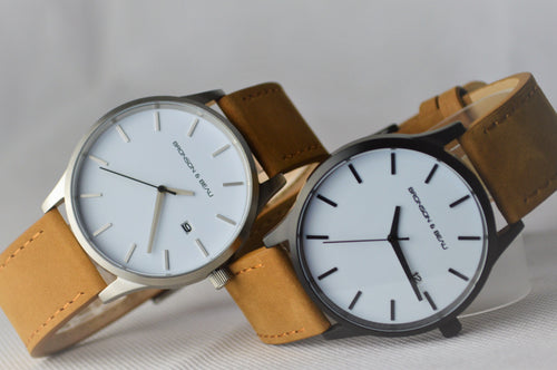 Tannery Watch White with Silver