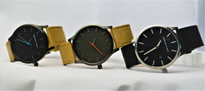 Tannery Watch in Black with Silver