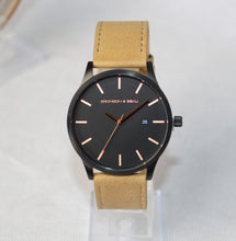 Tannery Watch in Black with Rose Gold