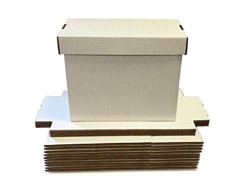 SHORT White Comic Storage Boxes - Holds 150 - 175 Comic Books Collection