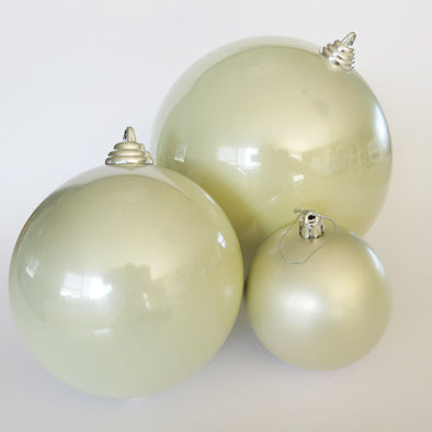 DISPLAY BAUBLE PEARL GLOSS 8CM - 6 PACK