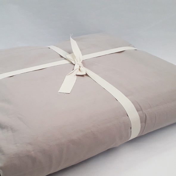 BLANKET SET 100% COTTON 220 X 240CM - 4PC  GREY