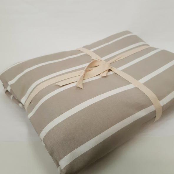 BLANKET SET BEIGE COTTON 200X230