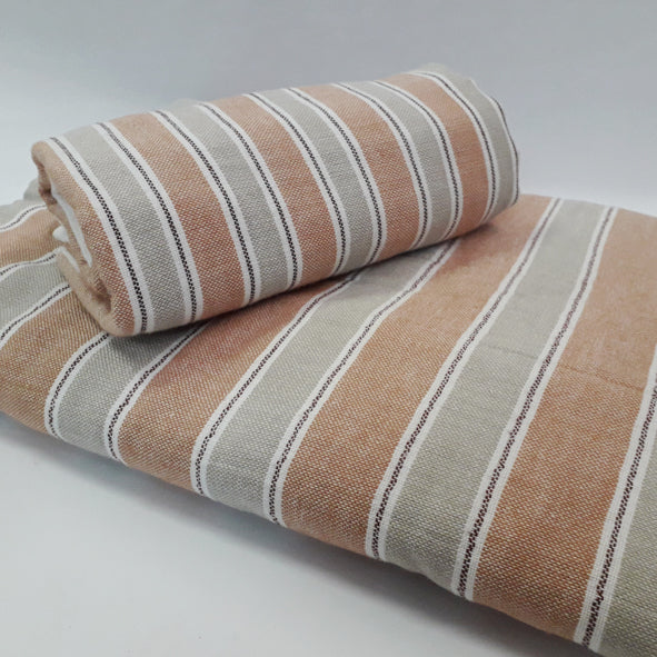 RUST STRIPE FACE TOWEL (SET OF 4)