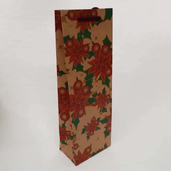 POINSETTIA WINE GIFT BAG