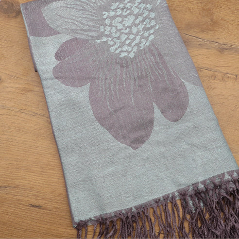 ALCEA DOVE BLUE SCARF