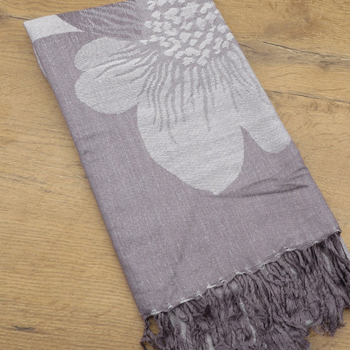 ALCEA LIGHT GREY SCARF