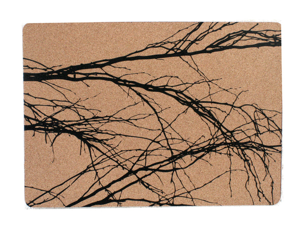 Branch Black Placemats (Set Of 2)