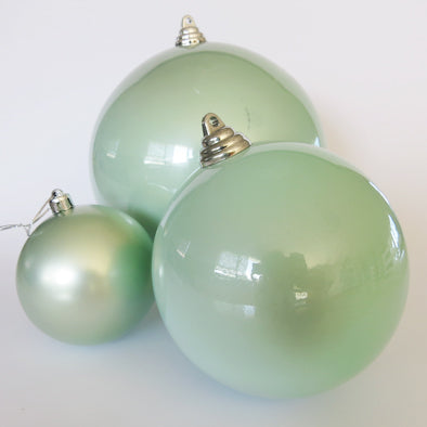 DISPLAY BAUBLE MINT GLOSS 8CM - 6 PACK