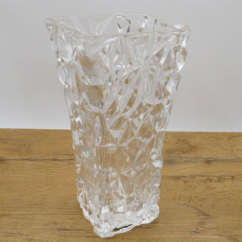CRYSTAL VASE RECTANGULAR