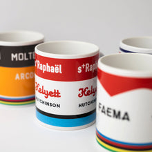 Load image into Gallery viewer, Vintage Teams - Full Set of 4 Mugs – Gifts for Cyclists by the English Cyclist