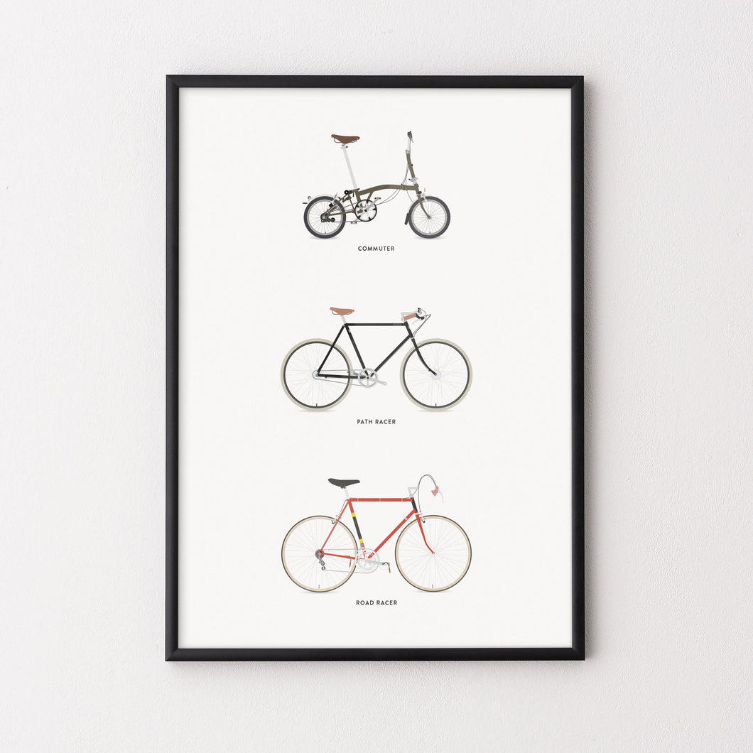 Commuter Path Road Poster – Gifts for Cyclists by the English Cyclist