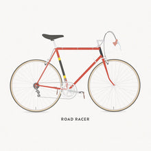 Load image into Gallery viewer, Commuter Path Road Poster – Gifts for Cyclists by the English Cyclist