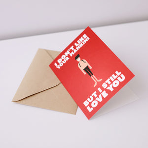 I Don't Like Your Mankini Greeting Card – Gifts for Cyclists by the English Cyclist