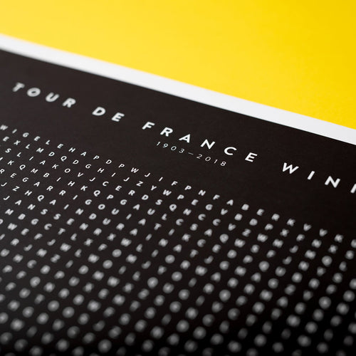 Tour De France Champions Word Search Poster – Gifts for Cyclists by the English Cyclist