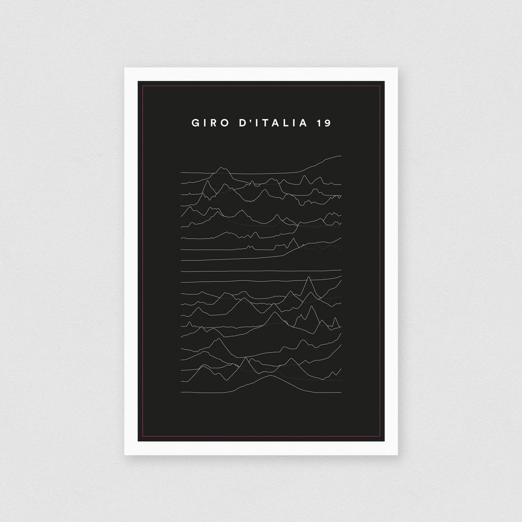 Giro 2019 Profiles Poster – Gifts for Cyclists by the English Cyclist