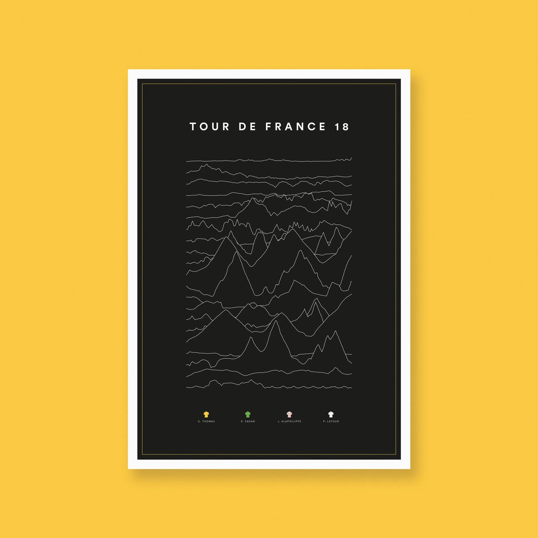 Tour de France 2018 Stage Profiles Poster – Gifts for Cyclists by the English Cyclist