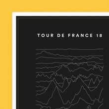 Load image into Gallery viewer, Tour de France 2018 Stage Profiles Poster – Gifts for Cyclists by the English Cyclist