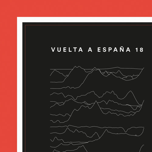 Vuelta a España — Stage Profiles 2018 Poster – Gifts for Cyclists by the English Cyclist