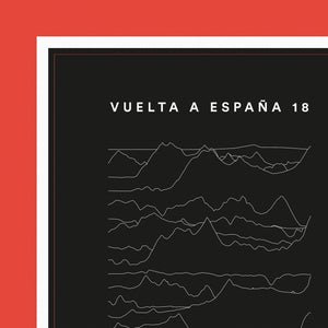 Vuelta a España Cycling Poster - English Cyclist